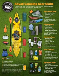 Kayak Camping Checklist | 22 Absolutely Essential Diagrams You Need For Camping