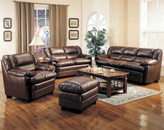 Living Room Color Idea with Brown Furniture Beautiful Cream Living Room Sets Vintage Living Room Set Up with Leather Living Room Set, Leather Living Room Furniture, Room Furniture Design, Furniture Ideas, Dark Furniture, Cherry Furniture, Fine Furniture, Rustic Furniture, Leather Sofa And Loveseat