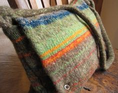 Hand knitted then felted.