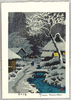 ca. 1940 - Kasamatsu, Shiro - : Twilight in Snow