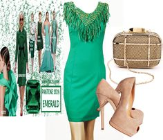 More styling ideas...!Emerald green cocktail dress with gold fringes O N L Y with 36.00 euro! http://hipandspoiled.com/index.php?route=product%2Fproduct=113_171_id=11485