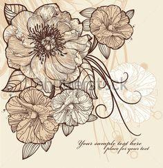 Ilustración Floral Vintage DE Flores Florecientes imágenes prediseñadas (clip arts) - ClipartLogo.com