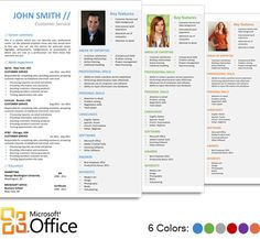 Functional Resume Template for Microsoft Word Office