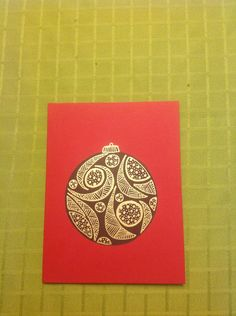 Zentangle Christmas Card