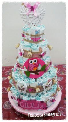 Torta pannolini femmina