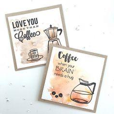 Altenew coffee card set Coffee Cards, Coffee Gifts, Coffee Love, Coffee Talk, Coffee Coffee, Family Gift Baskets, Altenew Cards, Birthday Coffee, Calendar Design