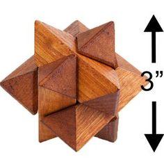 Large Wooden 3D Puzzle 4-Pack Mental Brainteaser #Large #Wooden #3D #Puzzle 4-Pack #Mental #Brainteaser