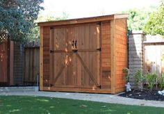The SpaceSaver 8x4 Double Door Garden Shed ships in panelized sections for quick assembly