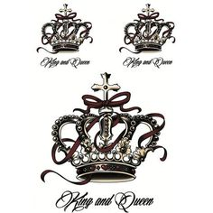 Creative Design Crown Temporary Tattoos For Men Women Waterproof Tattoo Stickers On The Body Art Arm Temporary Tattoo Sticker