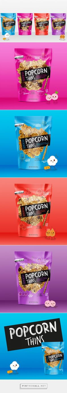 Popcorn Thins on Packaging of the World - Creative Package Design Gallery… Cereal Packaging, Popcorn Packaging, Chip Packaging, Food Packaging Design, Packaging Design Inspiration, Brand Packaging, Branding Design, Chocolate Packaging, Coffee Packaging
