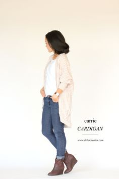 Carrie Cardigan sewing pattern // Delia Creates
