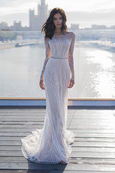 Wedding Dress Trends to Inspire Your 2019 - Wedding Dresses 2019 Best Brindal Wedding Dress Trends, Long Wedding Dresses, Bridal Dresses, Wedding Gowns, Modest Wedding, Lace Wedding, Wedding Ceremony, Long Sleeve Wedding, Mode Inspiration