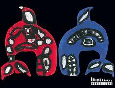 Bill Reid Haida Inspired Art - Orca Whales (featured in WMS 2013 Calendar) 3rd Grade Art, Grade 3, Orca Art, Bill Reid, Indigenous Education, Native Canadian, Advent Activities, 2013 Calendar, Holiday Club