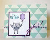 Owl Birthday Card - Happy Birthday Card - Cute Birthday Card - Fun Birthday Card - Kids Birthday Card - Birthday Greeting Card
