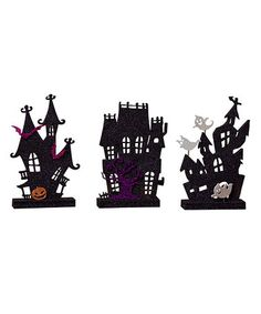 Another great find on #zulily! Haunted House Figurine Set by Cypress Home #zulilyfinds