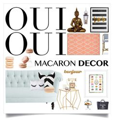 """Oui Oui : Macaron Decor"" by reclaimingnights ❤ liked on Polyvore"