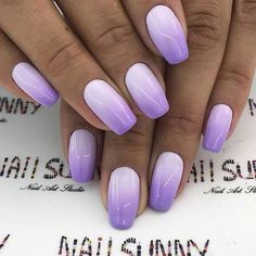 Ombre nails are everywhere these days. Ombre nails are eye-catching and personalized, and can be subtle as you want. I like a soft pastel ombre fade that is suitable for everyday use or glitter ombre nails for special occasions such as weddings. Light Purple Nails, Purple Ombre Nails, Dark Purple, Bright Purple, Purple Glitter, Purple Pedicure, Dark Ombre, Red Ombre, Purple Nail Designs