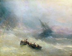 Айвазовский (Гайвазовский) Иван (Оганес) Константинович Радуга - Category:Paintings of ships in distress - Wikimedia Commons