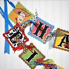 SPECIAL ORDER for Shelly Toy Story Birthday Banner Party Decoration Woody and…