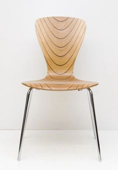 eccentric Kollector.  Tapio Wirkkala, Chair Nikke, 1958. Edition 40 from 1998. Plywood. Made by Asko Oy, Finland. Via Nord3