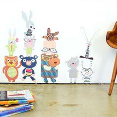 Bears & Bunnies Fabric Stickers