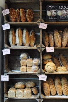 Probably a cheap alternative to bread displays - ----------------------------------------------------Simple, Rustic Bread Display