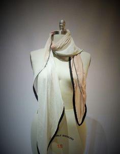 [ombre zip scarf]