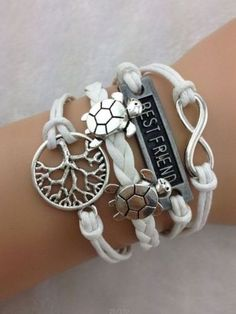 Cute Turtles Bestfriend Multi Layered Wrap Bracelet. Starting at $1 on Tophatter.com!