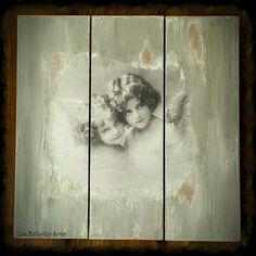 Shabby Wall Plaque Angels Decoupage by ArtelisaGiftBoutique http://www.etsy.com/shop/ArtelisaGiftBoutique