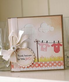 Thank heaven for little girls...love the ledger paper clouds (handmade with saar and pine)