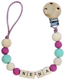 Speenkoord met naam   Lovelinn Teething Necklace, Mint, Jewelry, Jewlery, Jewerly, Schmuck, Jewels, Jewelery, Fine Jewelry