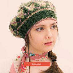 FREE Louisa Harding fair isle beret hat knitting pattern - get it at LoveKnitting!