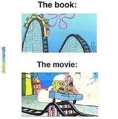 The book vs. the movie—the book wins #readinghumor http://writersrelief.com/