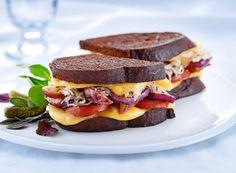 Grilled Cheese Sandwich with Sauerkraut on Rye