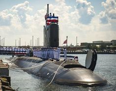 USS John Warner (SSN-785) navy's new $2B submarine commissioned, August 1, 2015.