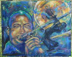 Trombone Shorty original fine art painting by LaurasPaintBrush