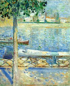 Edvard Munch   The Seine at Saint-Cloud, 1890