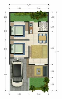 Discover recipes, home ideas, style inspiration and other ideas to try. Home Map Design, House Layout Design, Home Room Design, Small House Design, Dream Home Design, Home Design Plans, House Layouts, Mini House Plans, Model House Plan