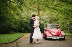red vw beetle wedding car | onefabday.com. Shoes designed at upperstreet.com