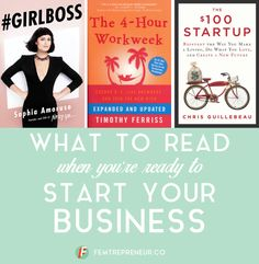 good books to help you start your business.