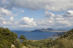 View from Vourliotes Village Kusadasi, Samos, Treasure Island, Islands, Greece, River, Mountains, Frame, Photography