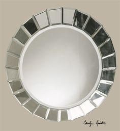$159 - 34 W X 34 H X 2 D (in) - Uttermost Fortune Frameless Round Mirror