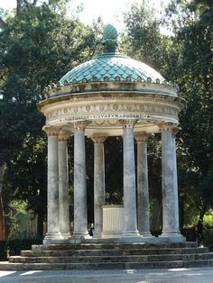 Borghese Gardens in Rome---where we got engaged