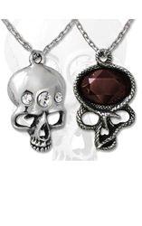 Alchemy Gothic Demon Head Necklace with Swarovski crystals. £32.50