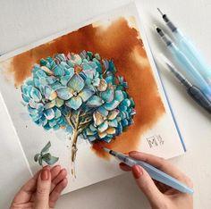 "17.8k Likes, 165 Comments - Леся Поплавская (@lesya_poplavskaya) on Instagram: ""Эта работа последняя в 2017) ""Do You Know Me?"" 45*31 акварель/watercolor ——————————— как вы,…"" #watercolorarts"