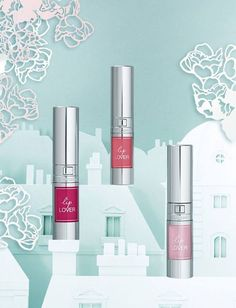 Lancôme Lip Lover – £18.00/€26.50 400 Rose Monceau – pale pink 401 Rose Victoire – pink coral 402 Rose Bagatelle – raspberry