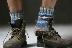 More knitted socks for him.