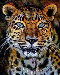 Cats Digital Art - Amur Leopard Stare by Ernie Echols