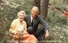 Bill and Lois Wilson in the garden. How sweet they look. Treatment for Codependency and Enabling. Come get the care and attention you deserve for 45 days. The best gift you can give your loved ones is a healthy you! CLICK HERE: www.serenityvista.com