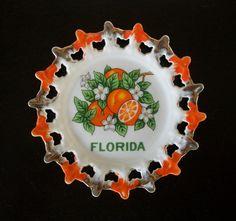 Florida Oranges Vintage Kitsch Decorative Souvenir Plate, $10.00